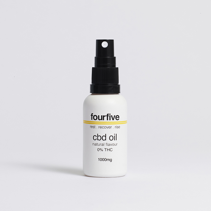 Fourfive 0% THC 1000mg CBD Oil 30ml