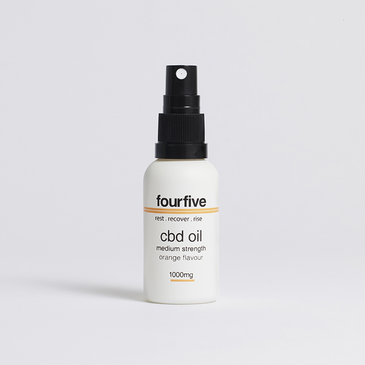Fourfive 1000mg Orange Flavour Sports CBD Oil 30ml