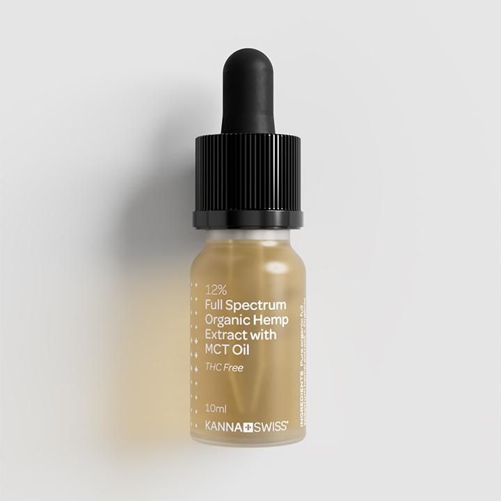 Kannaswiss Full Spectrum 12% Organic Hemp Extract Oil 10ml