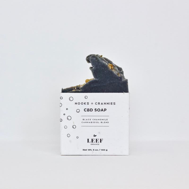 Leef Organics Nooks & Crannies Black Chamomile CBD Soap 140g