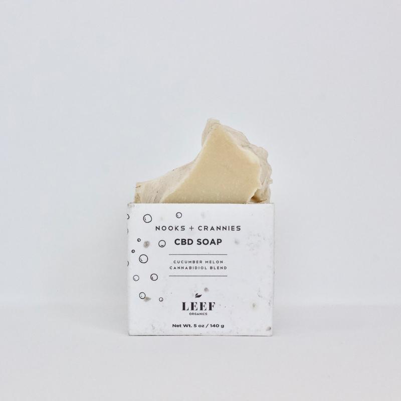 Leef Organics Nooks & Crannies Cucumber Melon CBD Soap 140g