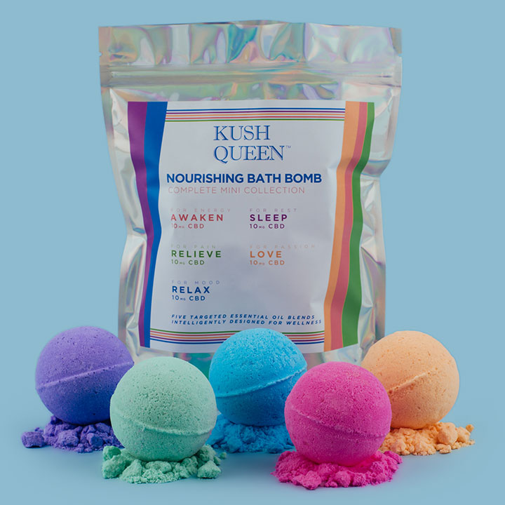 Kush Queen Mini CBD Bath Bombs Selection Pack