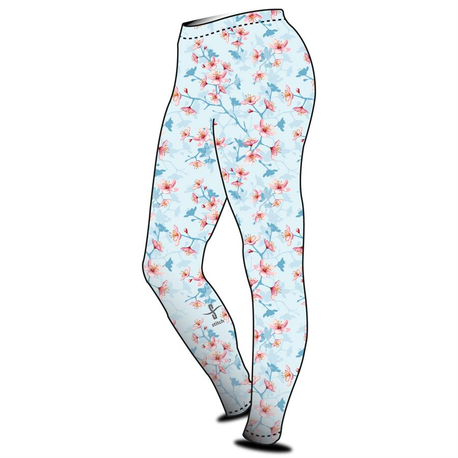 e874c96ff8b0c6 Stitch Rowing Flower Leggings